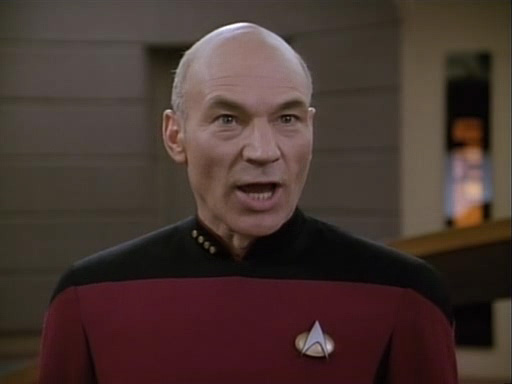 Picard, not happy, Patrick Stewart